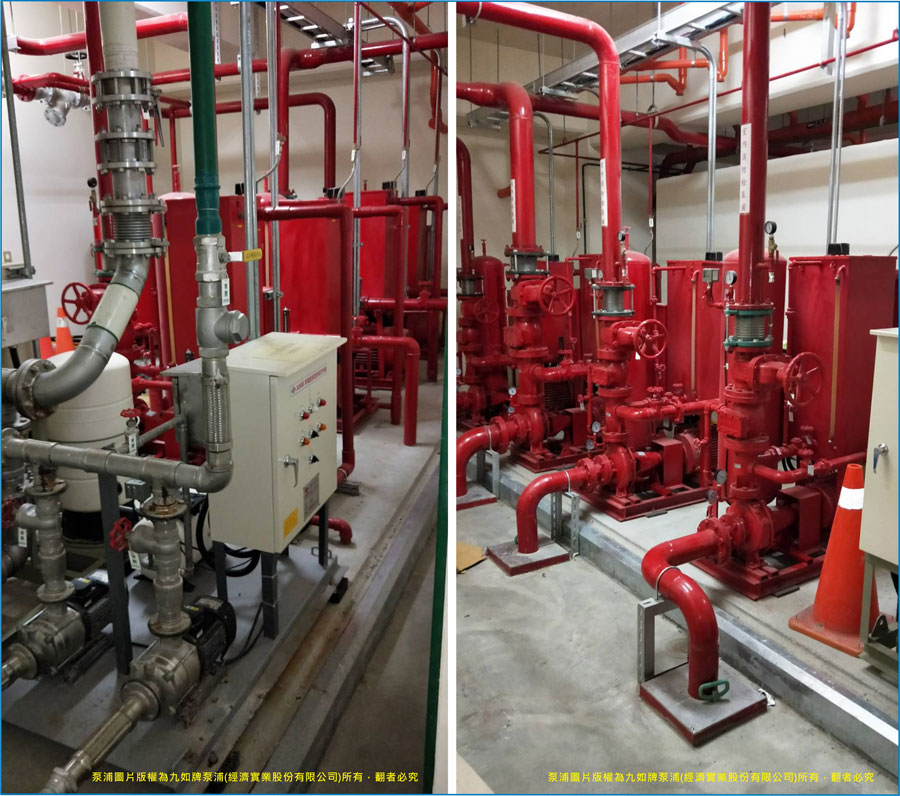 Logistics Center of Family-Mart use EVERGUSH Fire-fighting pumps and VFD booster pumps in Taouyan