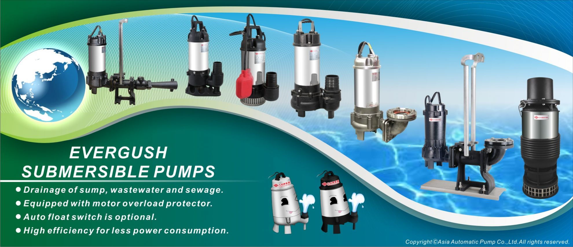 EVERGUSH Submersible pumps